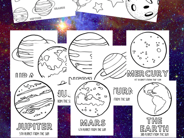Space Coloring Sheets that Teach Planet Order
