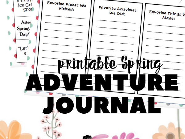Spring Break Journal + 25 Things to Do with Kids