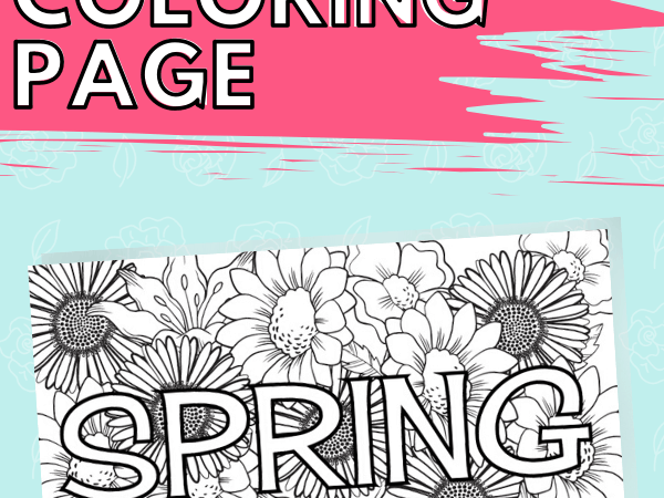 Spring Coloring Page: Great for Kids or Adults