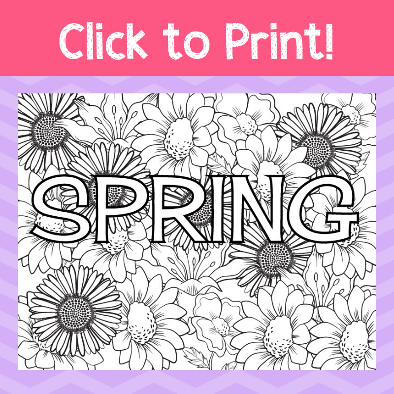 Spring Coloring Page: Great for Kids or Adults - Views ...