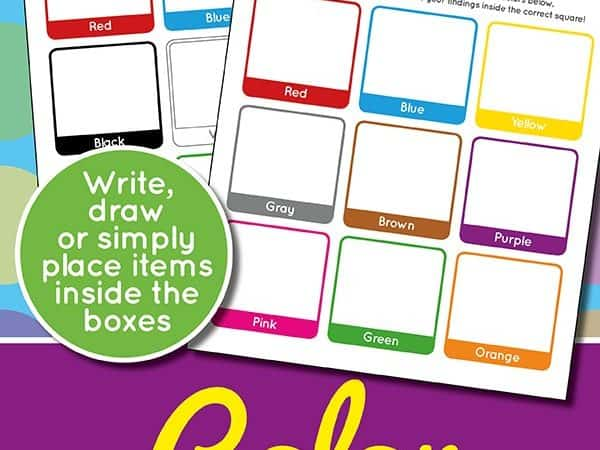 Printable Color Scavenger Hunt for Kids
