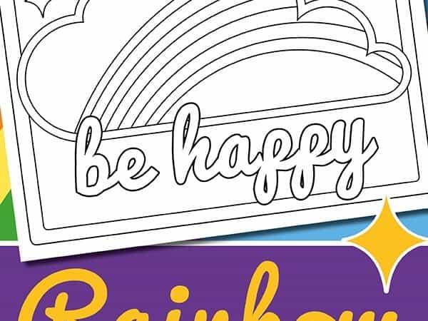 Printable Window Rainbow Scavenger Hunt Template