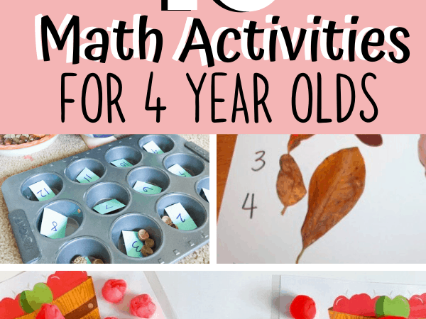 10 Math Activities for 4 Year Olds