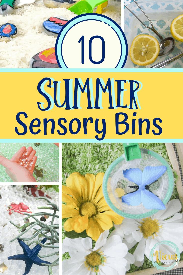 10 Summer Sensory Bins Kids will Love