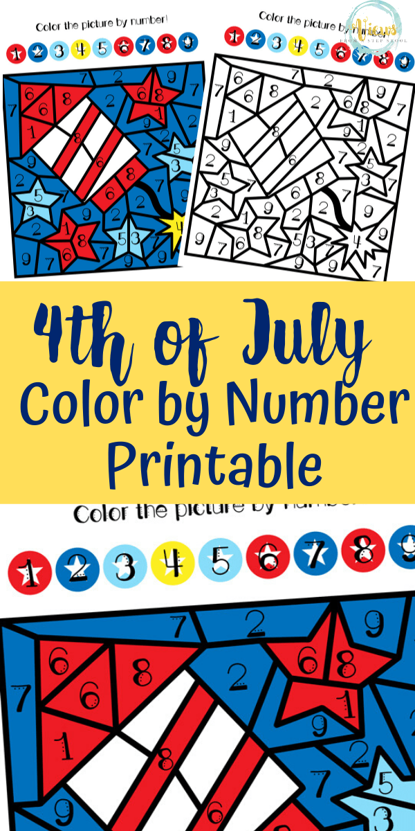 4th Of July Color By Number Printable - Views From A Step Stool