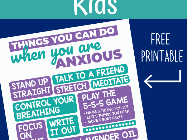 Anxiety Strategies for Kids: Free Printables