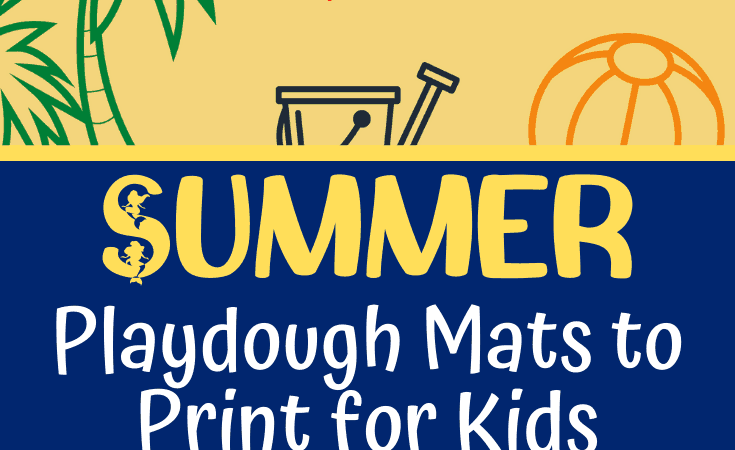 Summer Playdough Mats for Kids