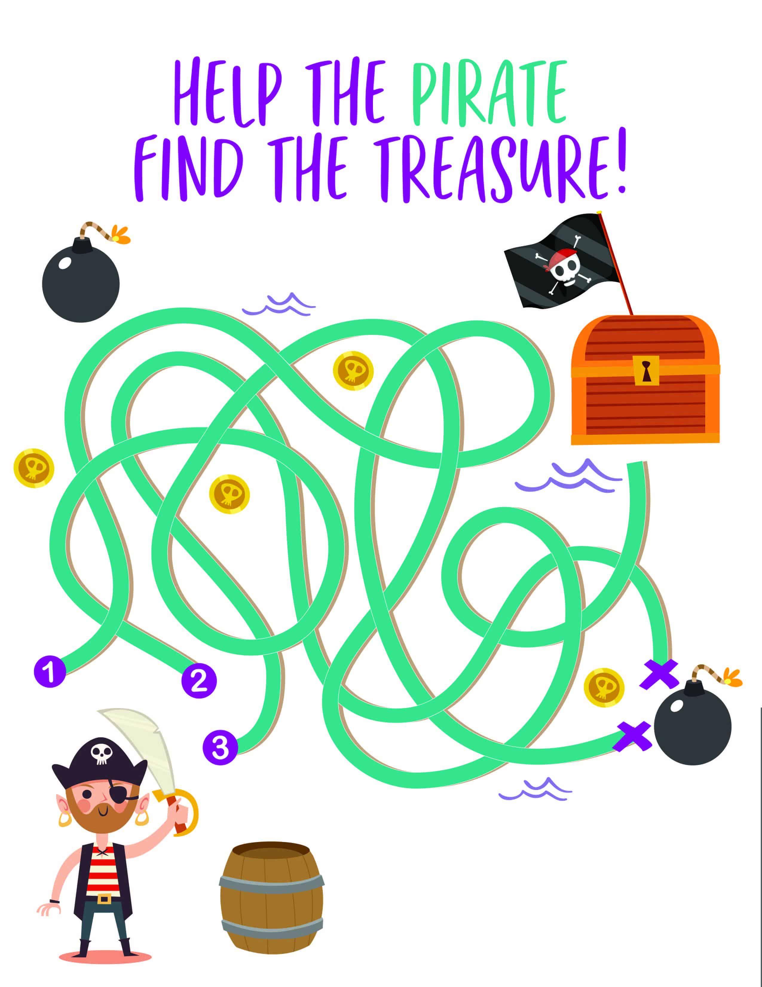 Pirate Printable Activities