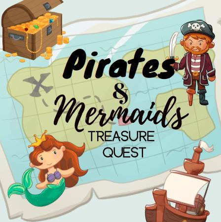 Pirates and Mermaid Printable Board Game: Treasure Quest