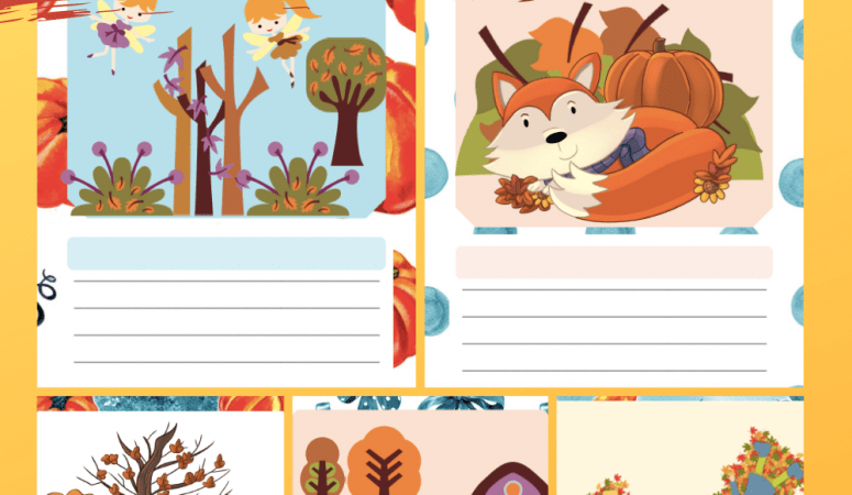 Fall Writing Prompts Printable Pages for Kids