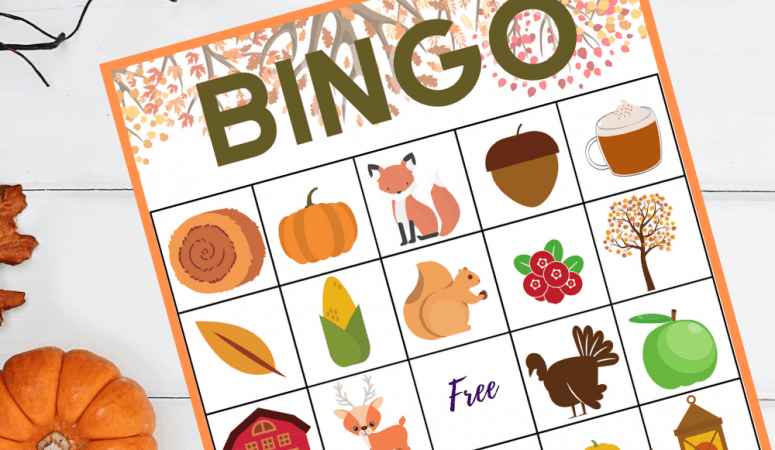 Printable Fall Bingo Game for Kids