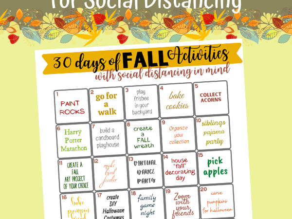 Fall Activities Bucket List (that work for social distancing)