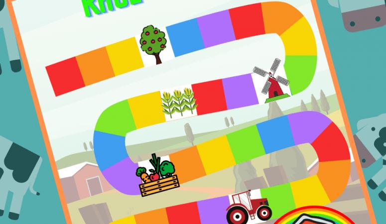 Printable Farm Animal Board Game