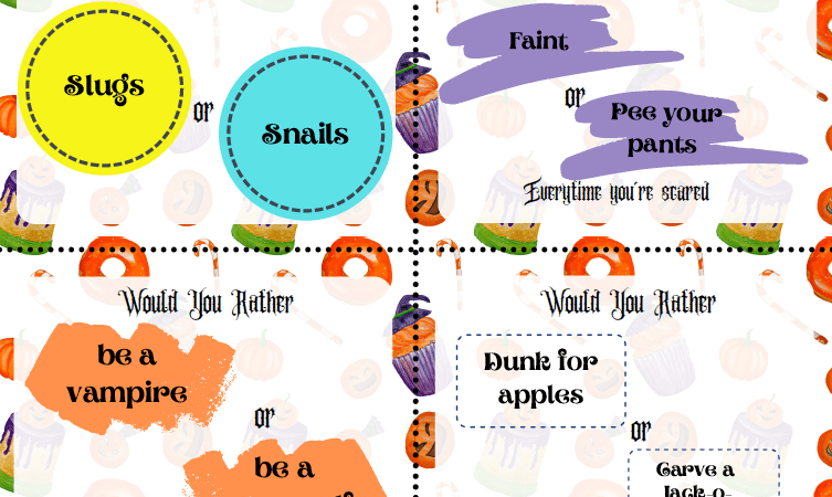 Would You Rather Halloween Printable Game