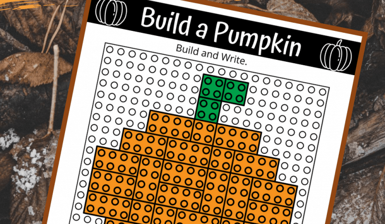 Pumpkin Lego Challenge: Free Build and Write Printable