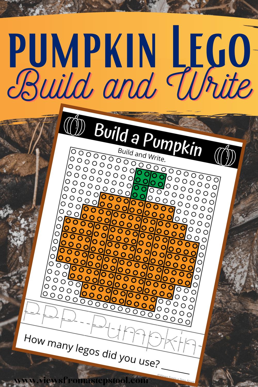 Pumpkin Lego Challenge: Free Build and Write Printable
