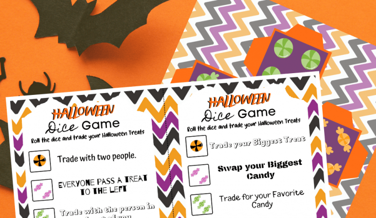 Halloween Candy Game: Candy Swap Printable Dice Game