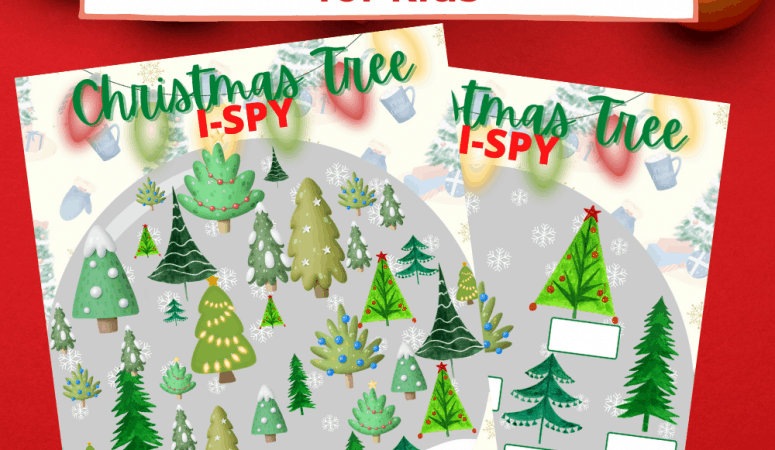 Christmas Tree I Spy Printable for Kids