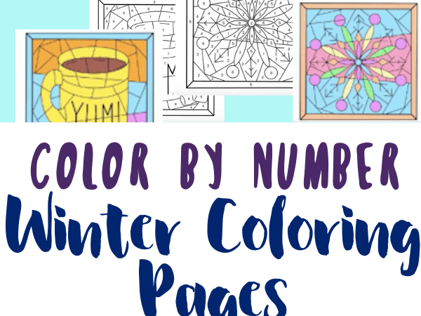 Winter Color by Number Printables
