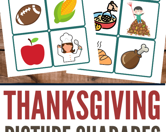 Thanksgiving Picture Charades Printable Game for Young Kids