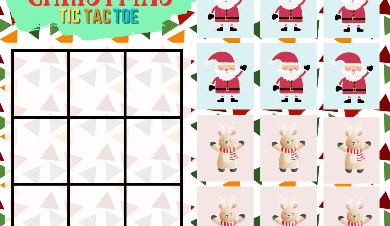 Christmas Tic Tac Toe Printable Game