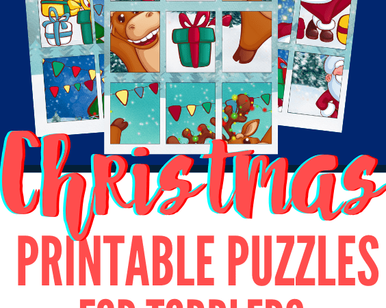 Printable Christmas Puzzles for Toddlers