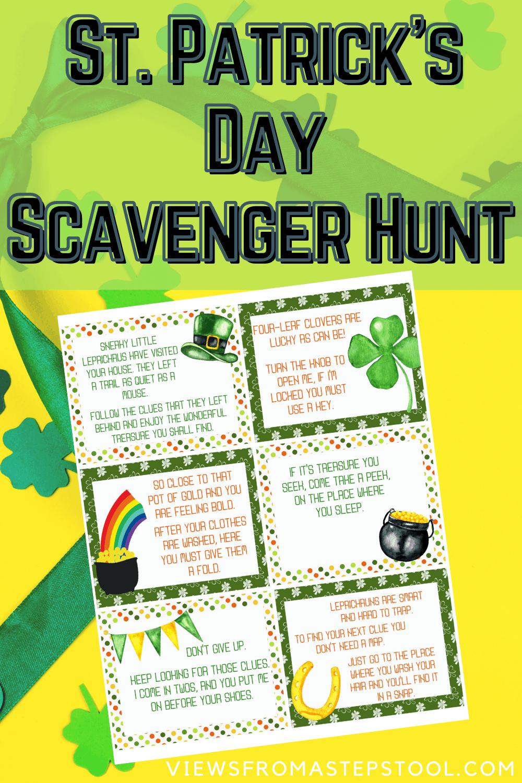St. Patrick's Day Scavenger Hunt Printable